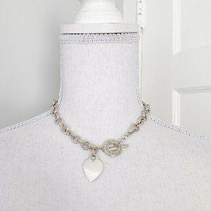 "Tiffany & Co.   Heart Tag Toggle Necklace 16"""